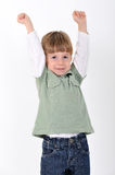 Boy with hands raised Royalty Free Stock Photo