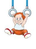 Boy hanging royalty free illustration
