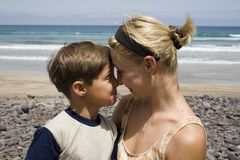 Boy and  happy mom Stock Photography