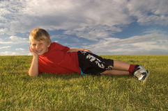 boy happy relaxing Στοκ Εικόνες
