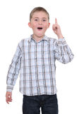 Boy happy with solution Stock Images