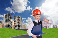 The boy in hardhat Stock Photos
