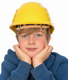 Boy with hardhat Royalty Free Stock Image