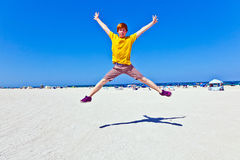 Boy Has Fun At The Beach In South Miami Stock Image