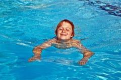 Boy Has Fun In The Pool Stock Photography