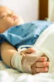 A boy has got sick. Stock Photo