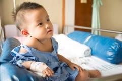 A boy has got sick. Stock Photos