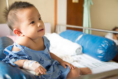 A boy has got sick. Royalty Free Stock Images