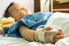 A boy has got sick. Royalty Free Stock Photography