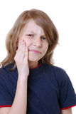 Boy has toothache Royalty Free Stock Photos