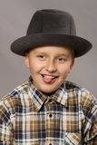Boy with hat Royalty Free Stock Photos