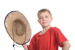 Boy in  hat Stock Image
