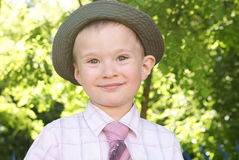 A boy in a hat Royalty Free Stock Images