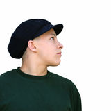 Boy in a hat. Profile of a boy Royalty Free Stock Image
