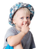 Boy in a hat. Stock Photos