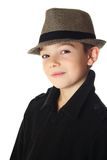 Boy with a hat Stock Photos
