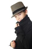 Boy with a hat Stock Images