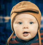 Boy in hat Royalty Free Stock Photography