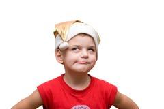 Boy in hat stock photos