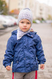 Boy with hat Stock Photos