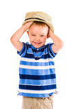 Boy and hat Royalty Free Stock Photo
