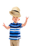 Boy and hat Stock Photo