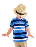Boy and hat Royalty Free Stock Photography