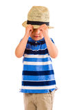 Boy and hat Royalty Free Stock Image