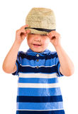 Boy and hat Stock Image