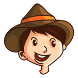 Boy With Hat Stock Photo