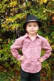 Boy in the hat Stock Photography