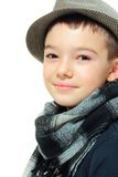 Boy with a hat Stock Photo