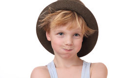 Boy with hat Royalty Free Stock Image