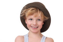 Boy with hat Royalty Free Stock Photography