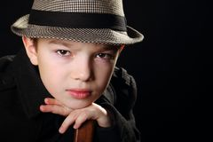Boy with a hat Stock Photography