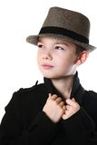 Boy with a hat Royalty Free Stock Photo