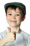 Boy with a hat Royalty Free Stock Photography
