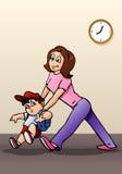 Boy hate go to school royalty free illustration