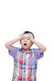 Boy have headache Royalty Free Stock Photo