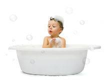 Boy having bath Stock Photo