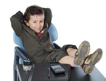 Boy having a break Stock Photography
