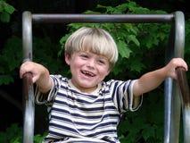 Boy Having Fun Stock Images