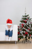 Boy having fun at Christmas Stock Photo