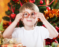 Boy having fun in Christmas Stock Photos