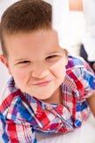 Boy having fun at home Royalty Free Stock Photos
