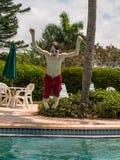 Boy having Fun at the Pool Royalty Free Stock Photography