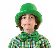 Boy having fun during St. Patricks day Royalty Free Stock Images