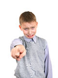 Boy having a Grudge Stock Image