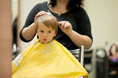 Boy, having hair cut Royalty Free Stock Photo