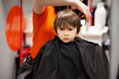 Boy, having haircut Royalty Free Stock Images